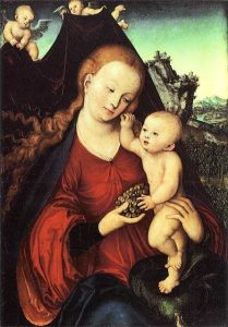 Lucas Cranach-Virgin & child